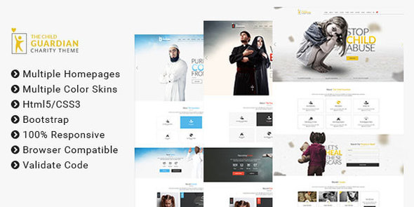The Child Guardian – HTML Template for Charity, Mosque and Church
