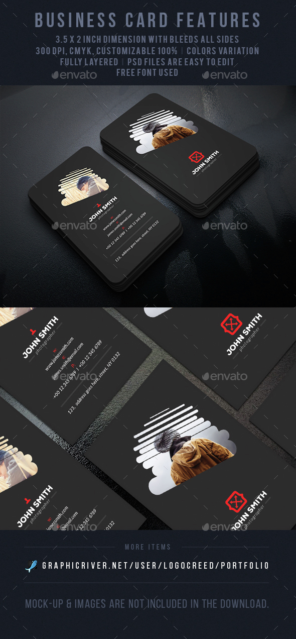 Cloud Photography Business Card - Business Cards Print Templates