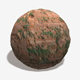 Grassy Red Cliff Seamless Texture