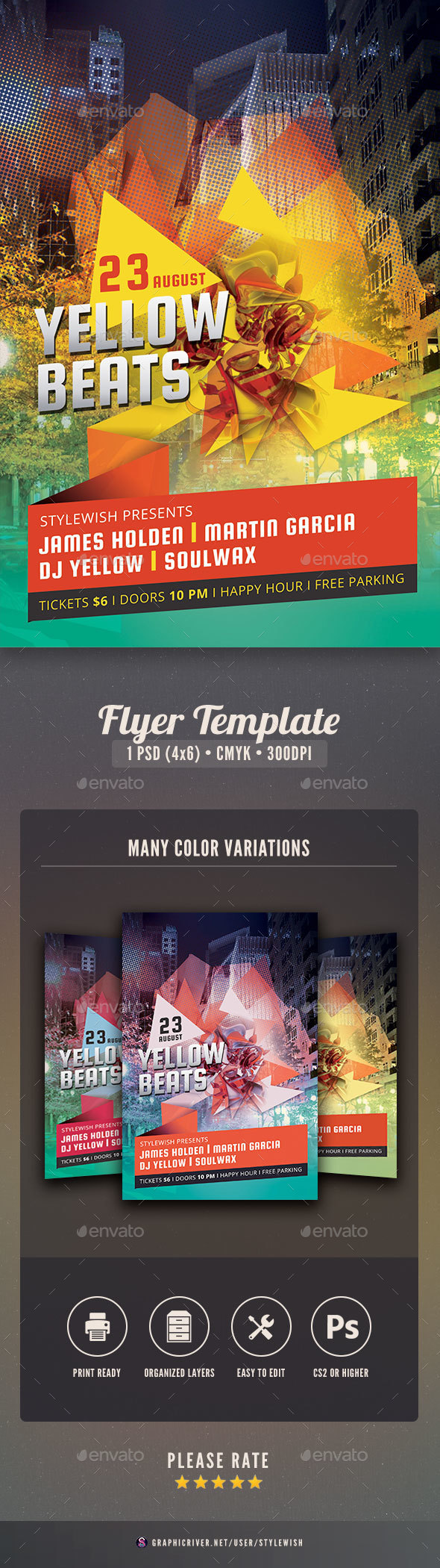 Yellow Party Flyer - Clubs & Parties Events