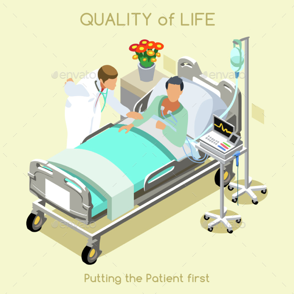 Patient Visit People Isometric - Health/Medicine Conceptual