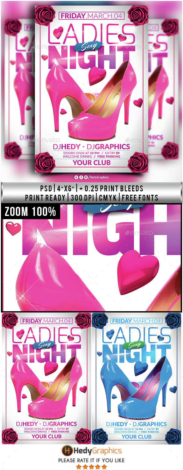 Ladies Sexy Night - Flyer Template - Clubs & Parties Events