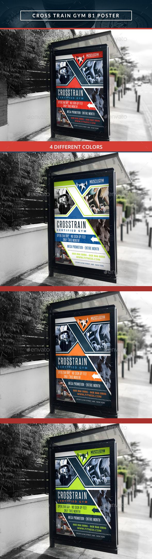 Cross Training Gym B1 Poster - Signage Print Templates