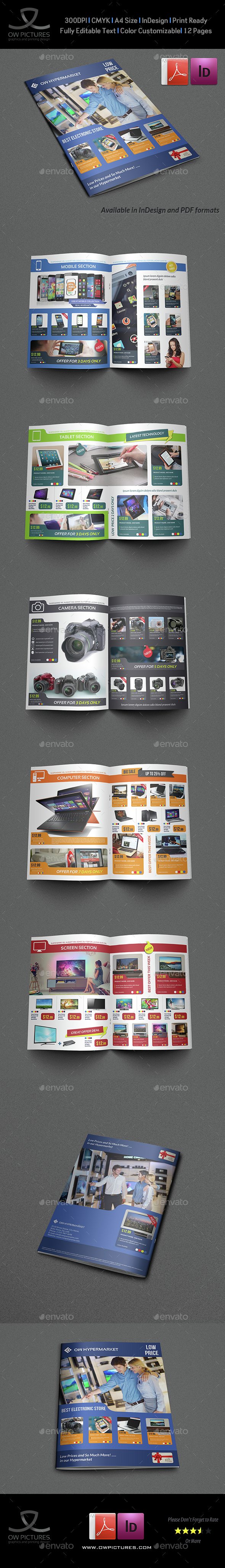 Electronics Products Catalog Brochure - 12 Pages - Catalogs Brochures