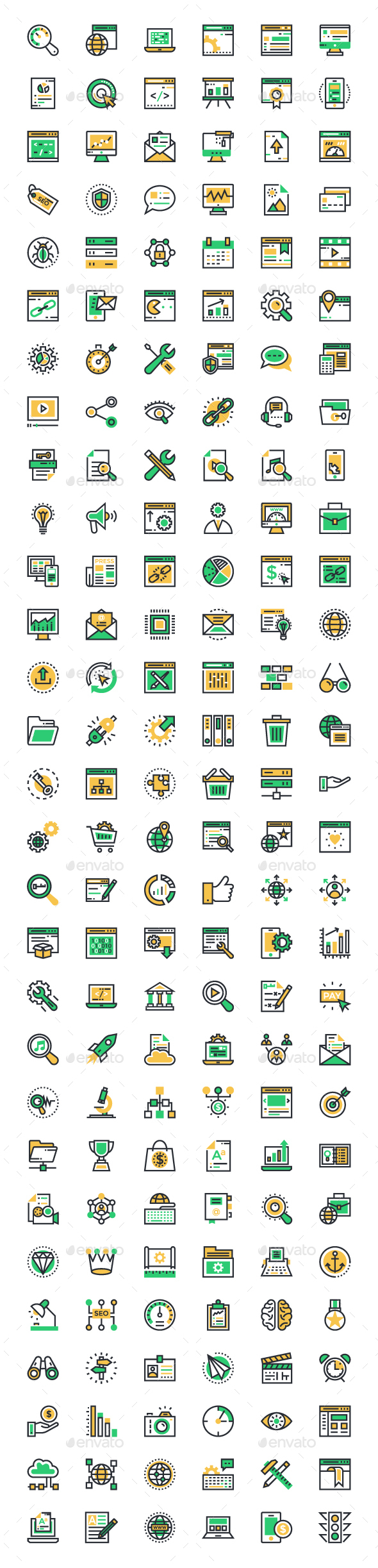 150+ SEO and Marketing Icons - Web Icons