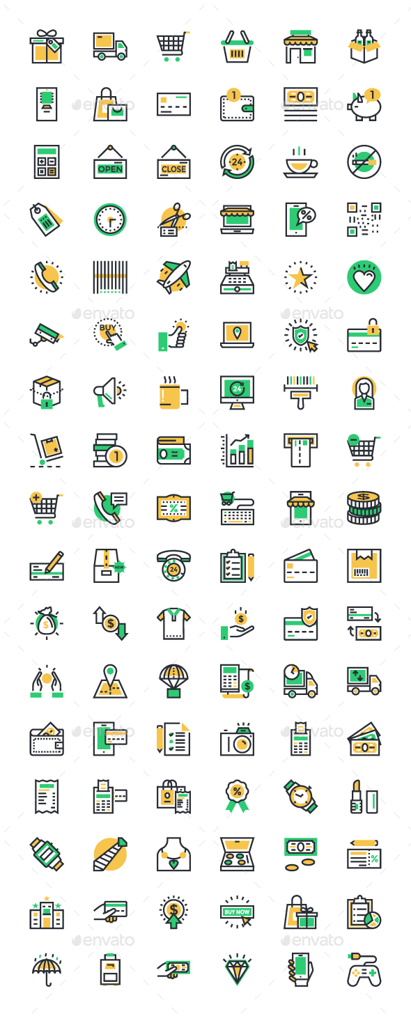 100+ Shopping and Commerce Icons - Business Icons