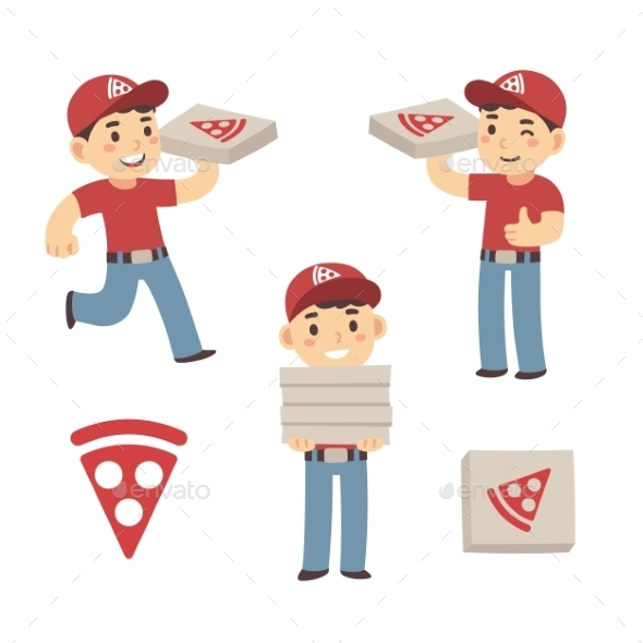 Pizza Delivery Boy - People Characters