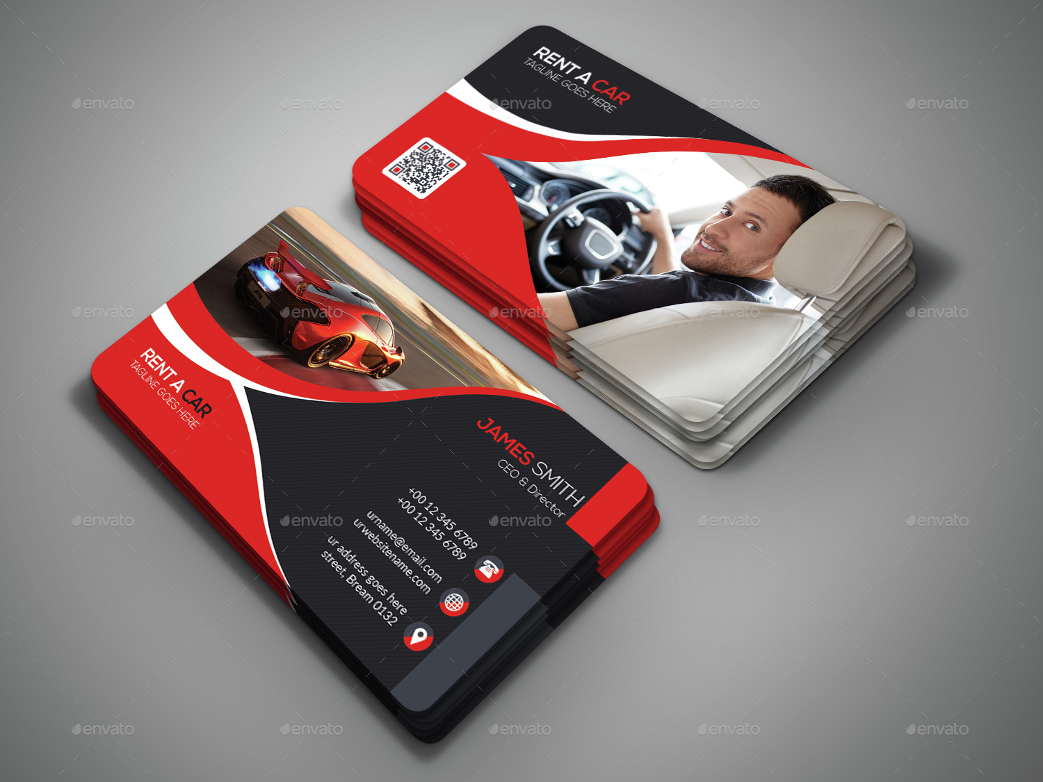Rent A Car Business Card by DesignSign | GraphicRiver