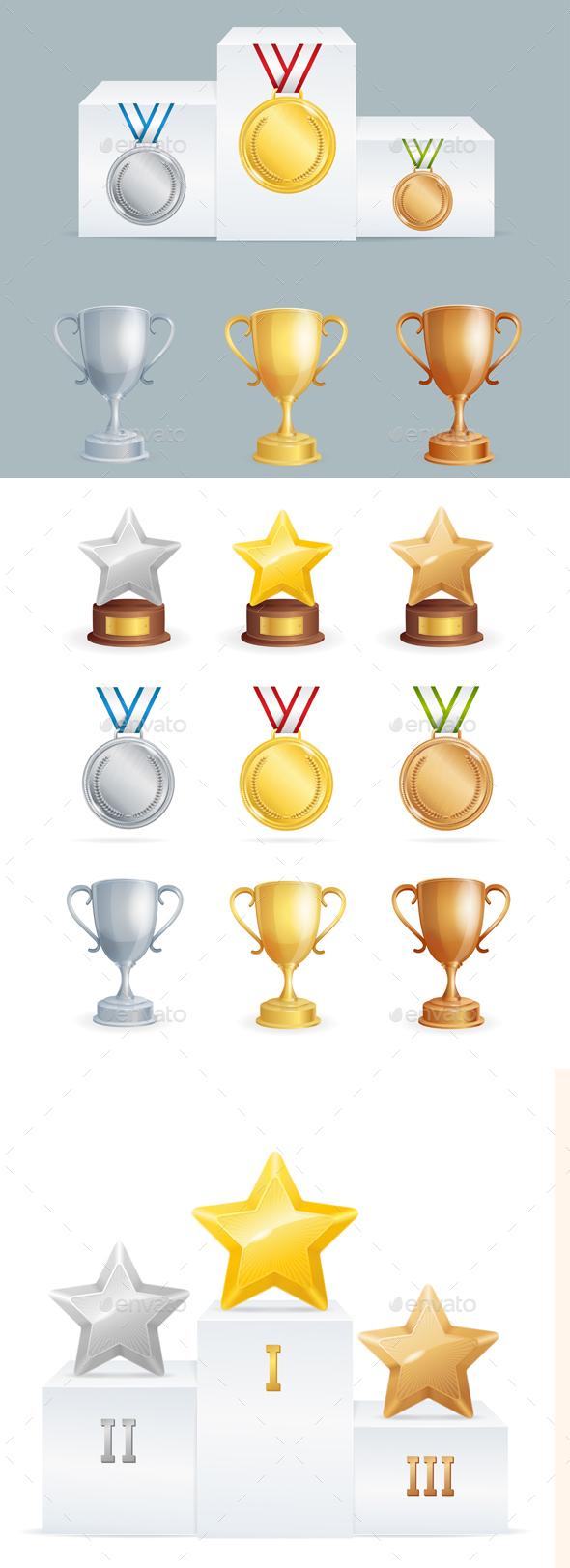 Sport Awards Set - Sports/Activity Conceptual