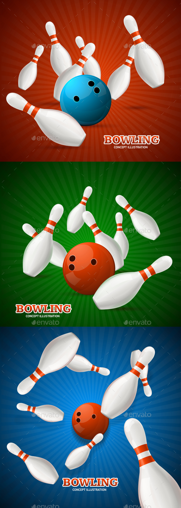 Bowling Concept - Sports/Activity Conceptual