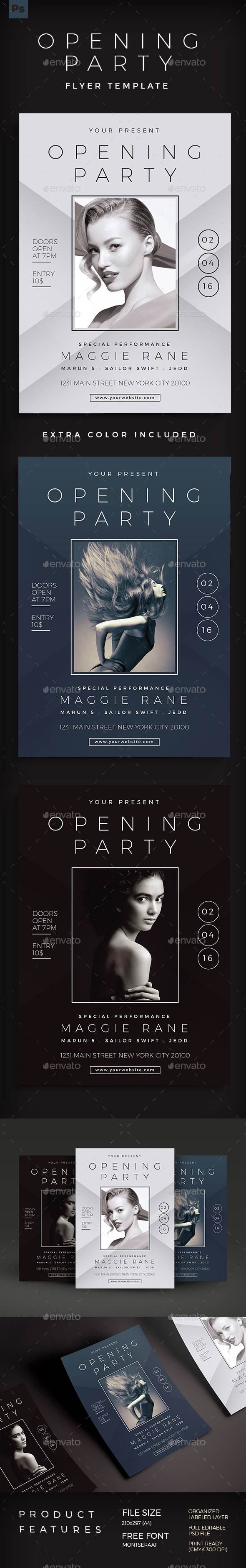 Opening Party Flyer - Events Flyers