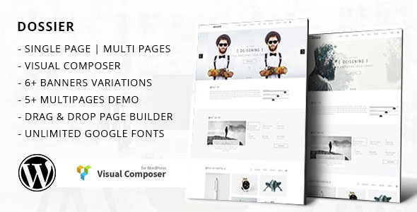 Dossier - Modern Portfolio WordPress Theme