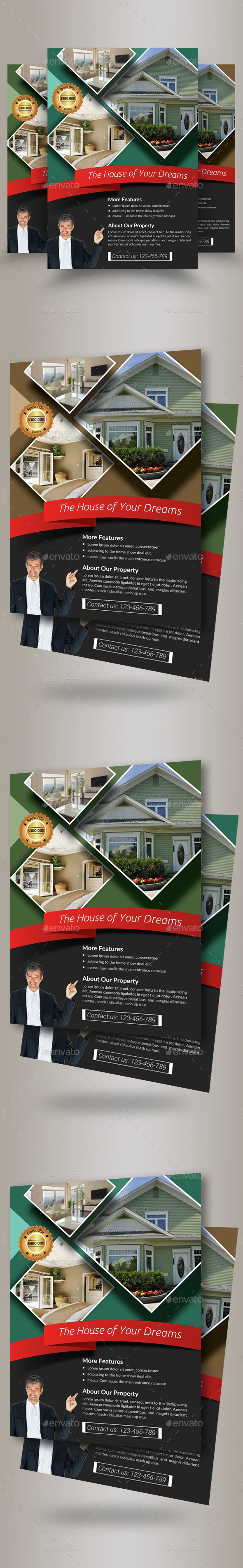 Real Estate Agency PSD Flyer Template - Corporate Flyers