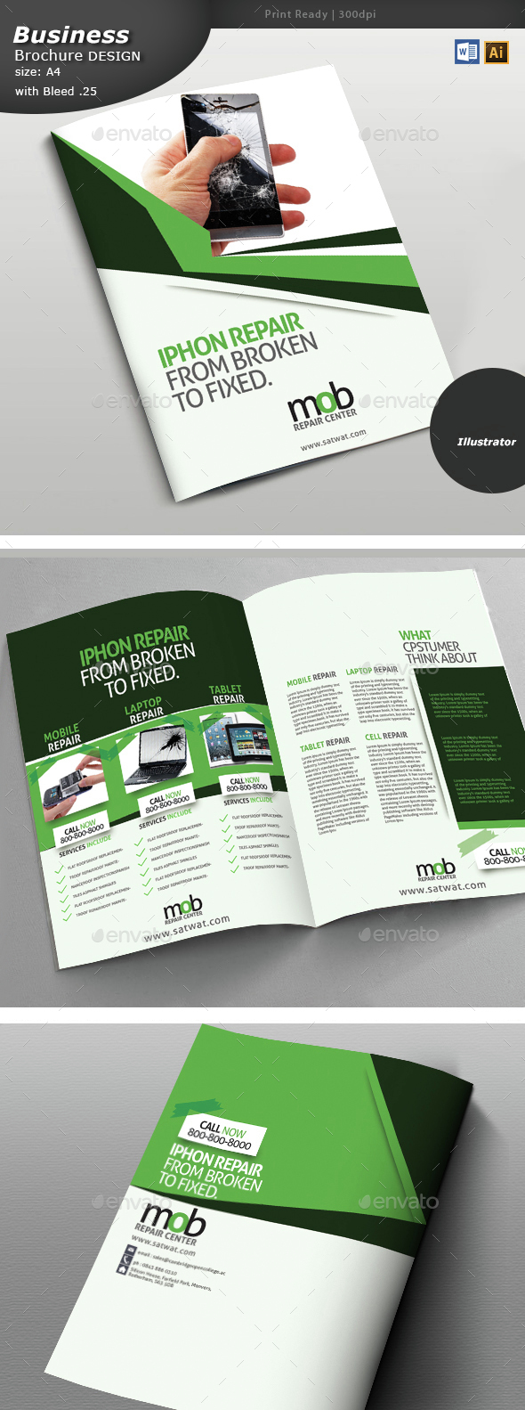 Cellular Repair Brochure - Brochures Print Templates