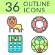 Outline Icons SEO and Development (Color) - GraphicRiver Item for Sale