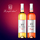 Real Rosé & White Wine Mockup - GraphicRiver Item for Sale