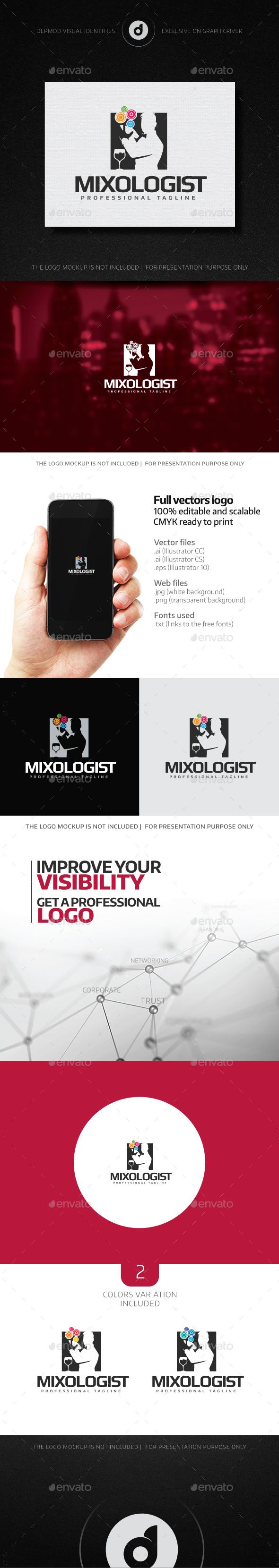 Mixologist Logo - Humans Logo Templates