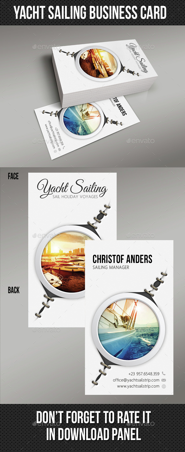 Yacht Sailing Business Card 04 - Business Cards Print Templates