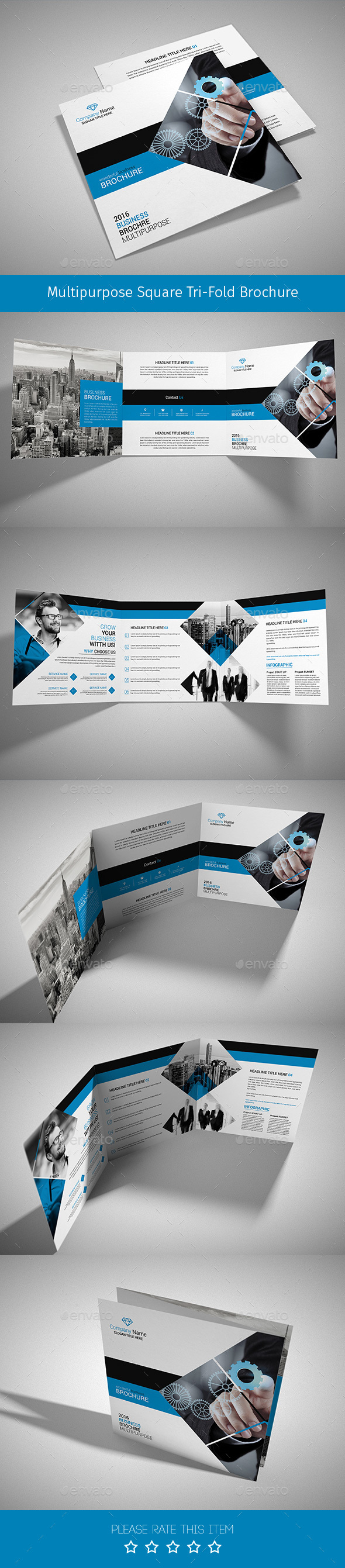 Corporate Tri-fold Square Brochure 03 - Corporate Brochures