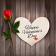 Happy Valentines Day Background With A Note On A Vector - GraphicRiver Item for Sale
