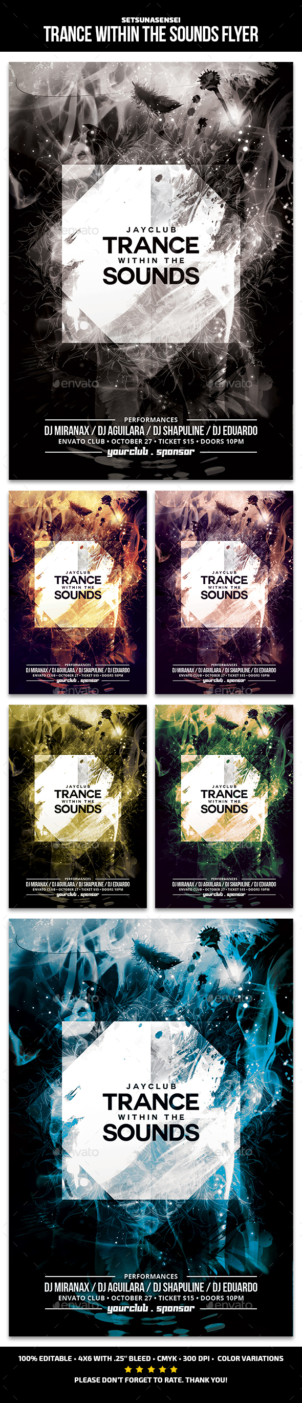 Trance Within the Sounds Flyer - Clubs & Parties Events