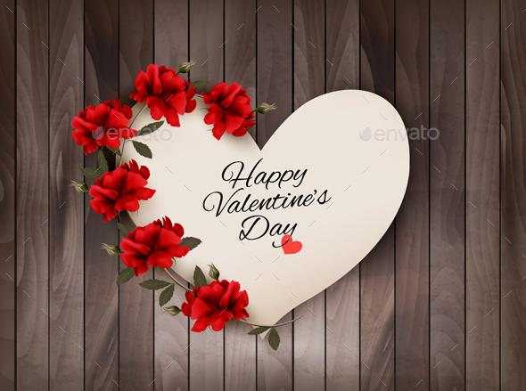 Happy Valentines Day Background Retro Greeting Card - Valentines Seasons/Holidays