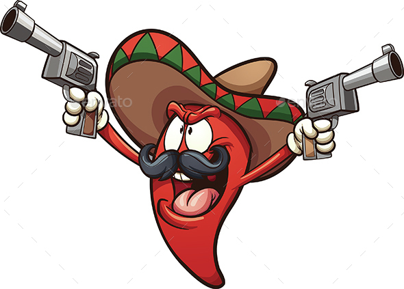Mexican Chili Pepper - Food Objects