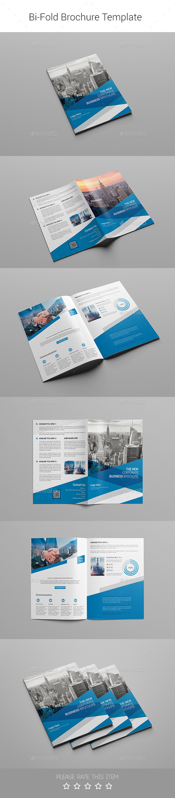 Corporate Bi-fold Brochure-Multipurpose 05 - Corporate Brochures