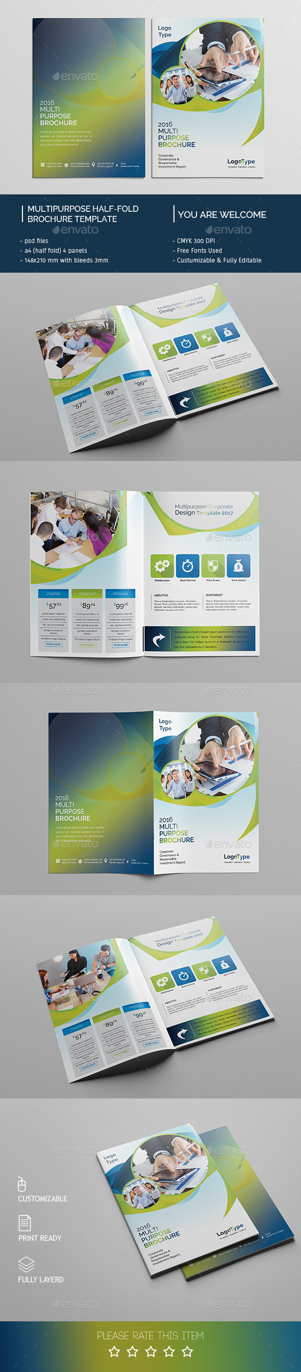 Corporate Bi-fold Brochure Template 07 - Corporate Brochures