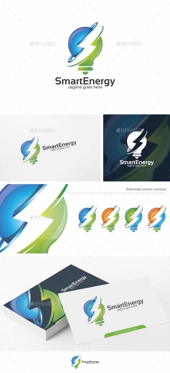 Smart Energy / Bulb - Logo Template - Symbols Logo Templates