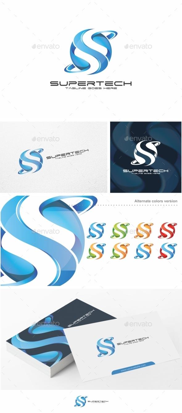 Supertech / Letter S - Logo Template - Letters Logo Templates