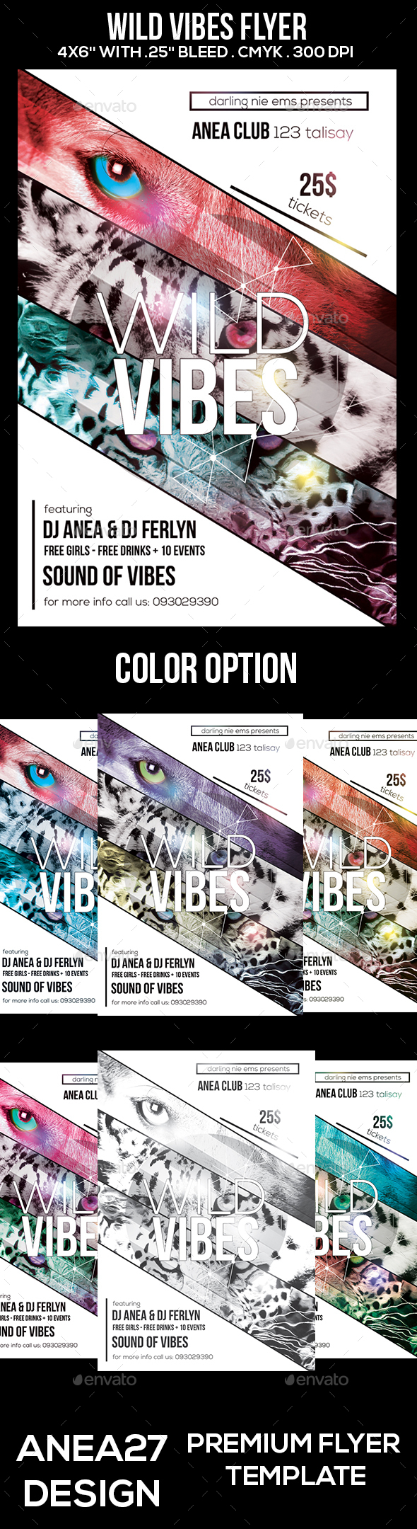 Wild Vibes Flyer - Clubs & Parties Events