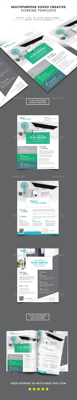 Multipuprose Flyer Vosvo Creative Studio - Flyers Print Templates