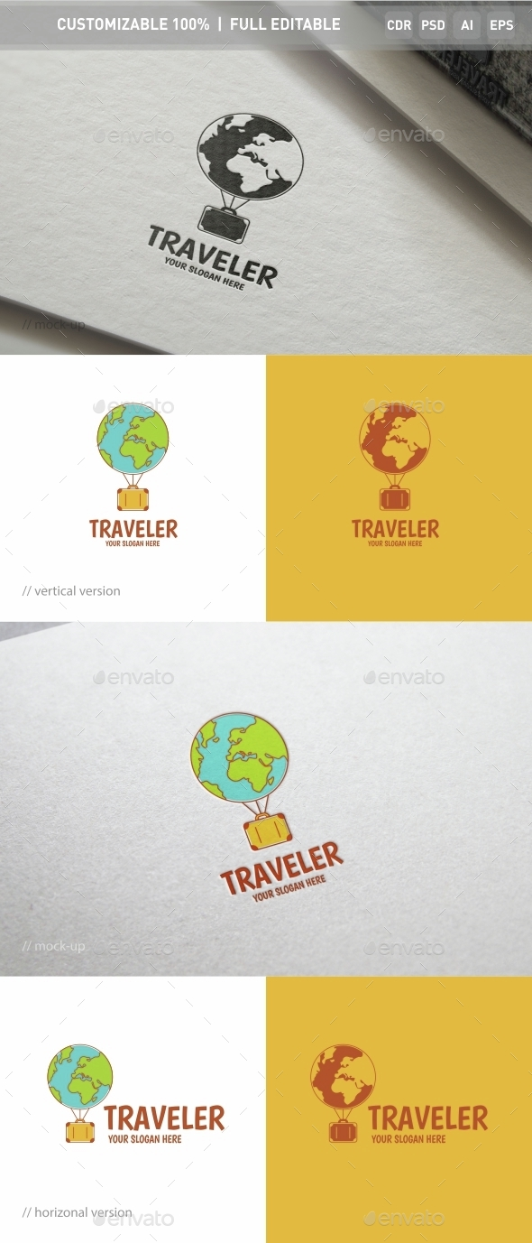 Traveler Logo Template - Objects Logo Templates
