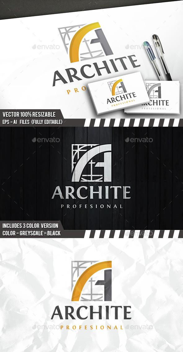 Architect A Letter Logo - Letters Logo Templates