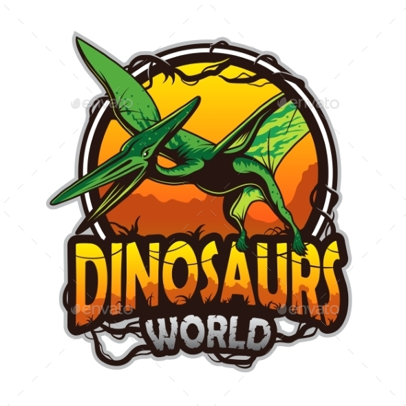 Dinosaurs World Emblem - Monsters Characters