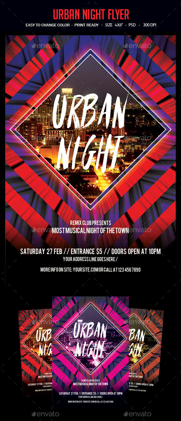 Urban Night Flyer - Clubs & Parties Events