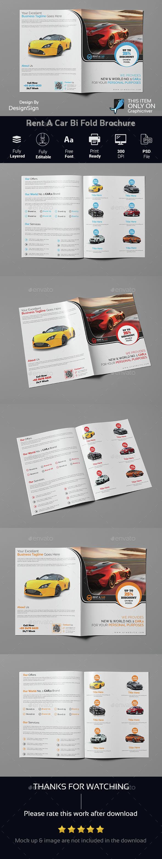 Rent A Car Bi Fold Brochure - Brochures Print Templates