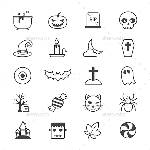 Halloween Party Icons Line - Icons