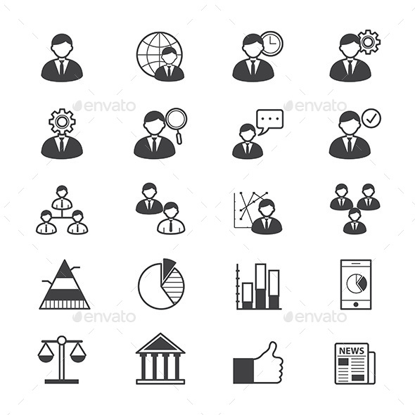 Management Icons Line - People Characters