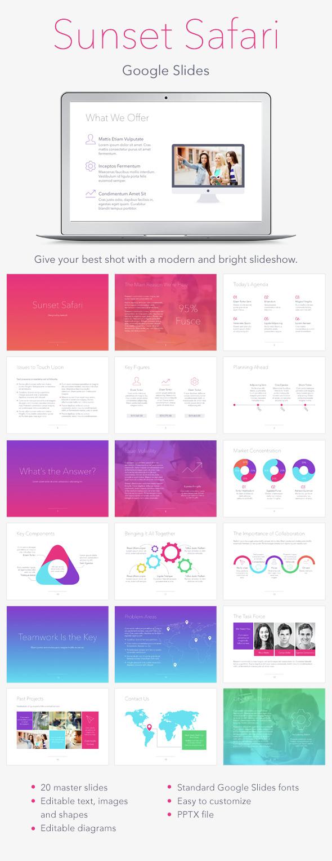 Sunset Safari Google Slides Template - Google Slides Presentation Templates