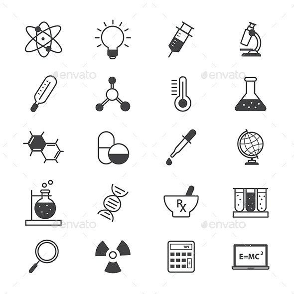 Science and Medical Icons Line - Icons
