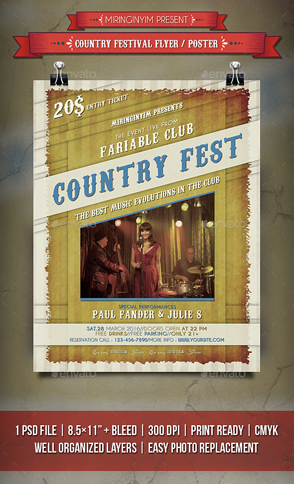 Country Festival Flyer / Poster - Events Flyers