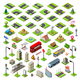 City Map Set 01 Tiles Isometric - GraphicRiver Item for Sale