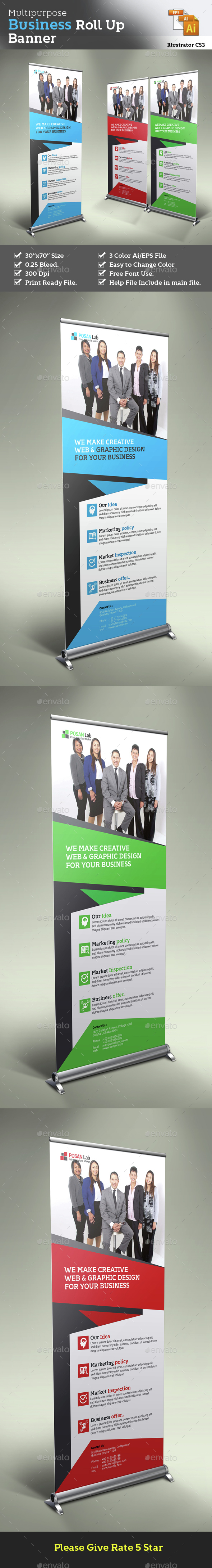 Business Roll Up Stand Banner - Corporate Flyers