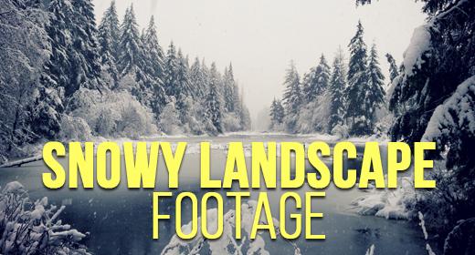 Snowy Landscape Footage
