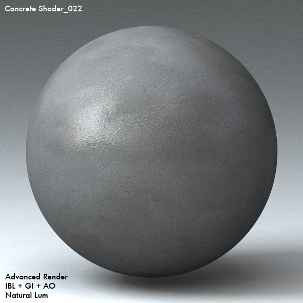 Concrete Shader_022 - 3DOcean Item for Sale