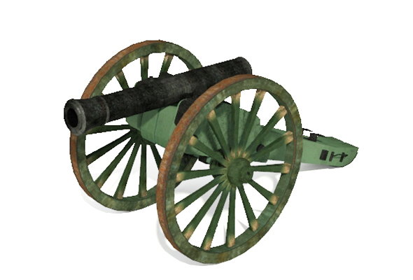3d Lowpoly Model of Old Artillery Cannon Circa 1800's - 3DOcean Item for Sale