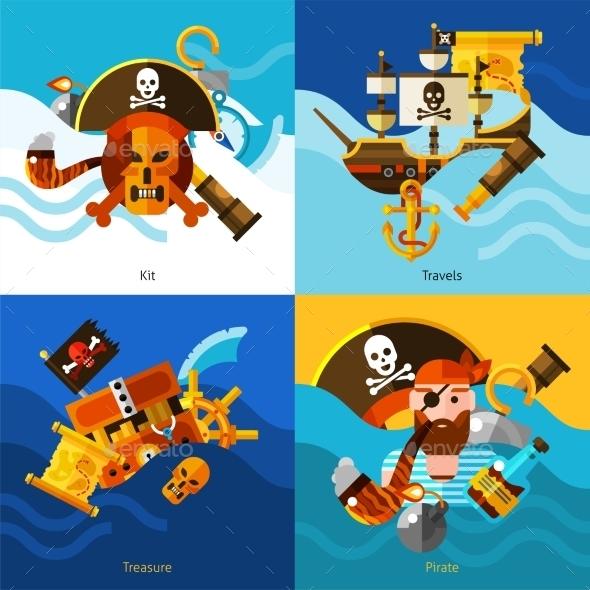 Pirates 2X2 Design Concept Set  - Abstract Conceptual