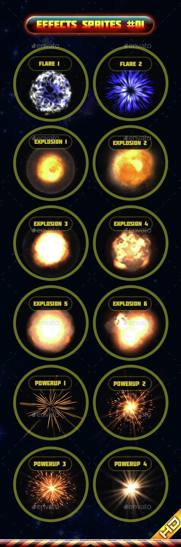 Effects Sprites 001 - Sprites Game Assets